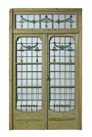 leaded glass french doors pair of antique leaded glass french double doors with frame uk
