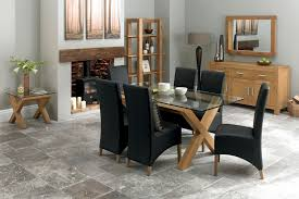 oak and leather dining room chairs home design planning