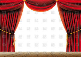 red theater curtain with tassels and cord on a stage vector image