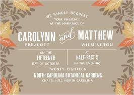 autumn wedding invitations autumn wedding invitations match your color style free