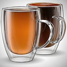 Cofee Mugs Amazon Com Anchor And Mill Double Walled Insulated Glass Coffee