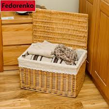 baskets for gifts pastoral groceries small large wicker storage baskets with lids