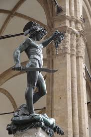 statue with perseus with the of medusa