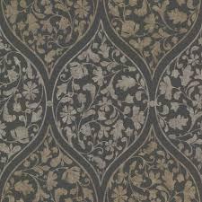 grey floral print wallpaper u2013 modern floral print wallpaper