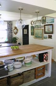 kitchen island with open shelves dining room makeover industrial kitchen island globe pendant