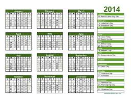 yearly calendar template 2014 great printable calendars