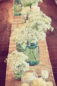 burlap bulk charleston wedding jar burlap and baby s breath via