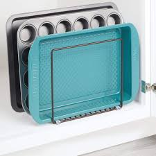 kitchen cupboard storage pans cookware mdesign kitchen pan rack pot lid rack for storing