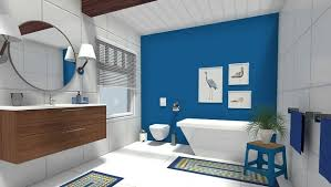 blue accent wall easy bathroom update add a blue accent wall roomsketcher blog