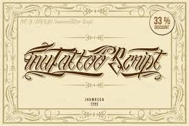 inutattoo script poster vector script fonts creative market