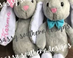personalized easter bunnies easter bunny etsy
