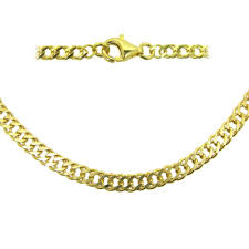 curb link necklace images Gold plated sterling silver necklace bracelet anklet double jpeg