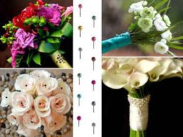 Diy Bridal Bouquet Diy Bridal Bouquets And Wedding Guest Favors With Colorful Floral Pins