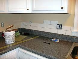 decorative backsplash tile light grey subway white grout with