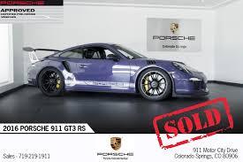 new porsche 911 gt3 rs 2016 porsche 911 gt3 rs for sale in colorado springs co p2751a