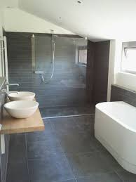 Black Slate Bathrooms 39 Dark Grey Bathroom Floor Tiles Ideas And Pictures