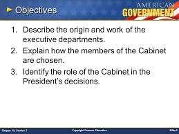 The Cabinet In Government Chapter 15 Government At Work The Bureaucracy Section 3 Ppt
