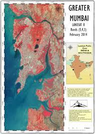 Bombay India Map by Landsat Images Ian Lockwood