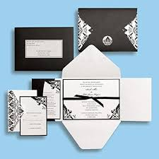 brides wedding invitation kits black and white damask wedding invitations kit brides magazine