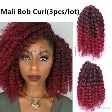 ombre crochet braids 2018 8inch ombre burgundy synthetic hair extensions ombre bug mali