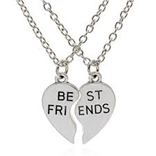 friendship heart epic brand best friend necklaces silver stainless