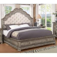 Antique Metallic Traditional Queen Bed San Cristobal RC Willey - Rc willey bedroom sets