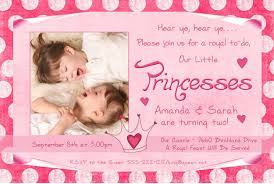 polka dot princess twin birthday cards girls photo party