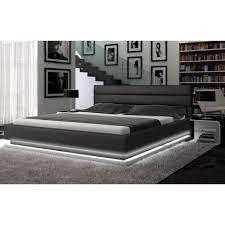 Black Leather Platform Bed Modern Platform Bed