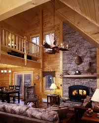 Cool Log Homes Log Home Kitchen Warmth Of Tiles For Island Counter And Floors