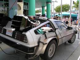 the actual delorean used in the back to the future movies