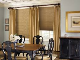 Dining Curtains Decorating Brown Levolor Vertical Blinds Matched With Curtains