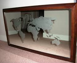 Diy World Map by Fay Grayson Home Easy Art World Map Mirror Map Work
