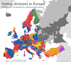 Map Of Europe Political by Voting Divides In Europe 1984x1736 Mapporn