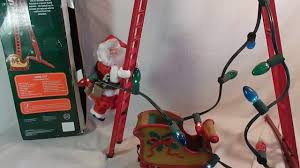 sears exclusive santa climbing ladder with craftsman tool belt and