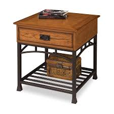 shop home styles modern craftsman oak poplar end table at lowes com
