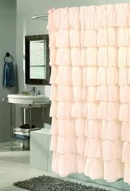 Overstock Curtains Bathroom Awesome White Ruffle Shower Curtain For Excellent