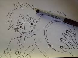one piece strawhat luffy drawing album on imgur