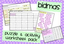 bidmas activities u0026 puzzles by mathspaduk teaching resources tes