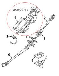 range rover steering columns