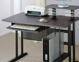Metal Computer Desks Desk Excellent Metal Computer Desk With Computer Storage And