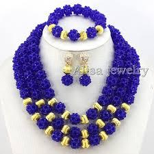 blue crystal necklace set images 2018 royal blue crystal beads necklace wedding jewelry set crystal jpg