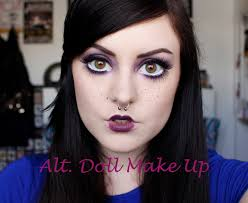 How To Do Doll Makeup For Halloween Alternative Doll Make Up Big Eyes Youtube