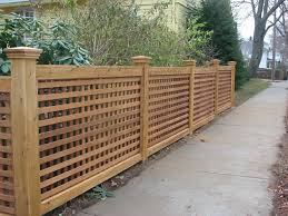 wood lattice wall wood fence