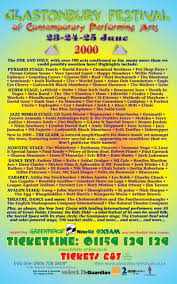 image result for glastonbury 2000 festival posters pinterest