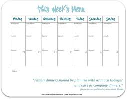 printable blank meal planner monthly menu planner templates meal planning with grocery list