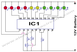 lm3914 12v battery monitor circuit electronic circuits