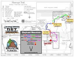 Phoenix Mountain Preserve Map by Elephant Mountain Trail Runs 50k Race Aravaipa Running