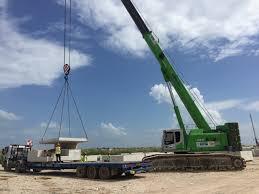 new sennebogen 120 tons telescopic crawler crane in changi airport