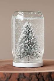 decorations sweet pine jar snow globe for