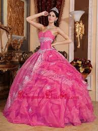 quinceanera pink dresses hot pink gown sweetheart floor length organza beading